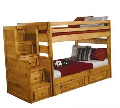 Solid Wood Bunk Beds With Trundle by Bedroom Perfect Combination For Your Bedroom With Stair Bunk Beds