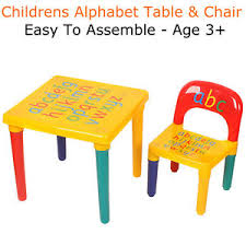 childrens plastic table and chairs childrens alphabet table chair set kids abc plastic furniture