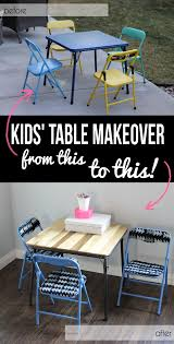 modern kids table set makeover no power tools required chair