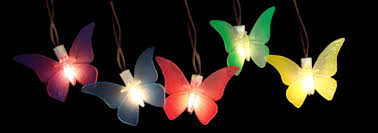Patio Umbrella Led Lights by Set Of 10 Battery Operated Led Butterfly Garden Patio Umbrella