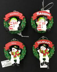 ganz cheerful snowmen personalized name ornaments