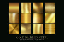 brushed gold brushed gold metal textures by paper farms thehungryjpeg