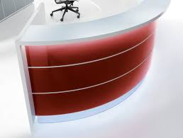 Circular Reception Desk Red Reception Desk Hula Home