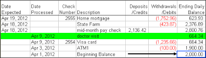 checkbook assistant for microsoft excel