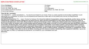 waitress job cover letter waitress job title docs
