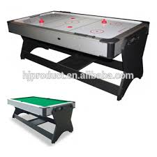 high quality 2 in 1 multi game table rotating pool table and air