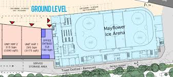 mayflower ice arena development submit planning permission august 2017 building works start early 2018 new rink opening late 2018