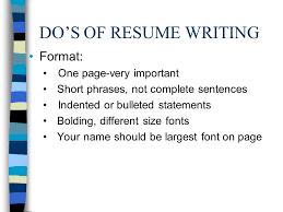 What Size Font For Resume Resumes Make Em U0027 Sizzle Ppt Download