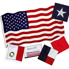 Embroidered American Flag American Flag By Valley Forge Koralex Ii 2 Ply Sewn 6x10ft