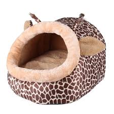 small house dogs ttnight animals shape pet bed 3 sizes giraffe pattern dogs house