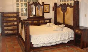 Dallas Designer Furniture Prieta Grande Rustic Bedroom Set With - Cowhide bedroom furniture