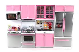 pretend kitchen furniture amazon com deluxe modern kitchen battery operated toy kitchen