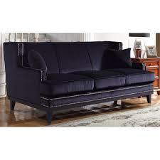 Velvet Sofa Bed Modern Soft Velvet Sofa With Nailhead Trim Details Free Shipping