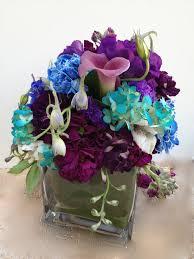 Blue Wedding Centerpieces by Wedding Centerpiece Purple Blue And Teal Blue Wedding Flowers