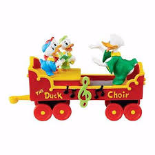 new department 56 disney donald s duck choir figure
