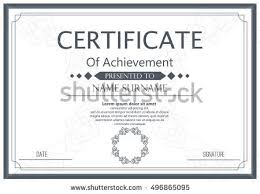 certificate diploma template achievement success diploma stock