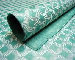 mint wrapping paper handmade wrapping paper gift wrap 3 sheets blue garden flower