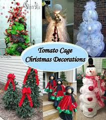 christmas decorations clearance outdoor christmas decorations for sale tiered tomato cage trees