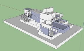 sketchup 3d architecture models cascade house 3d u2013 cad design