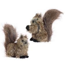 8 raz fuzzy brown squirrels christmas ornament