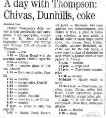 hunter s thompson u0027s daily routine mental floss
