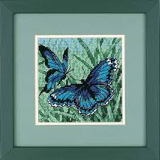dimensions butterfly duo needlepoint kit 7183 123stitch