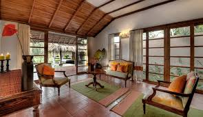 orange livingroom luxury lily pool villas in coorg evolve back luxury resorts
