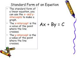 33 standard form of an equation