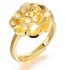 golden flower rings images 18k plating diamond ring charming wedding flower rings luxury fine jpg