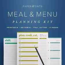organized home printable menu planner blue kitchen ideas home design and interior decorating for white
