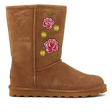 bearpaw womens boots size 11 bearpaw dreamer suede embroidered boot with neverwet 8550314 hsn