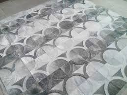 Patchwork Cowhide Rug Custom Project Gray Obo Leather Area Rug Shine Rugs