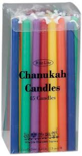 channukah candles rite lite judaica deluxe chanukah candles multicolor