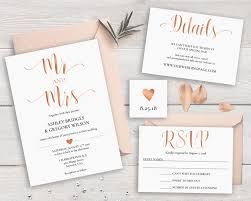 sale 30 off rose gold wedding invitation suite template