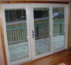 Patio Sliding Glass Door Patio Sliding Doors 3 Panel Cost Of Plantation Shutters For Glass