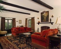 living room in spanish home design trick free