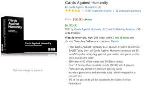 cards against humanity for sale cards against humanity black friday sale stunt will it