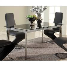 Glass And Chrome Dining Table Chintaly Tara Extendable Glass Dining Table In Chrome Tara Dt Blk