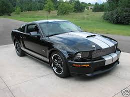 Black Mustang With Stripes Fs 2007 Shelby Gt Black With Silver Stripes 24 500 The Mustang