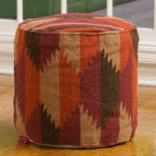 luther brown fabric cube pouf great deal furniture canada
