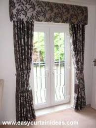 Valances For French Doors - patio door cornice and drapery traditional curtains newark