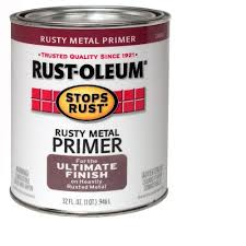 what of paint do you use on metal cabinets rust oleum stops rust 1 qt flat metal primer