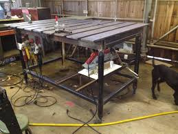 diy welding table plans this could be the ultimate welding table the garage journal board