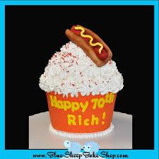custom birthday cake dog giant birthday cupcake specialty
