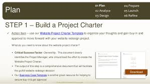 Website Redesign Project Plan Template