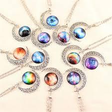 vintage necklace pendants images Wholesale gem necklaces vintage moon necklace starry outer space jpg