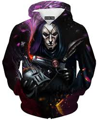 league of legends jhin gun hoodie 3d pullover clothing lol