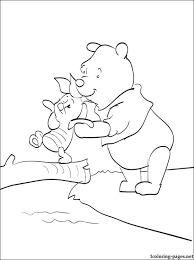 winnie pooh piglet coloring kids coloring pages