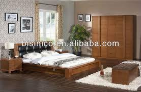 set de chambre bois massif contemporain chambre en bois massif lit de stockage bois naturel