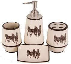 western bathroom accessories retro barn country linens